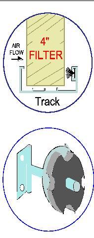 "4"" Filter track for pre-filter"